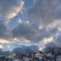 2月24日、午前6時過ぎの空模様