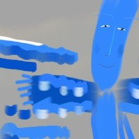 目のさめる青にハグ