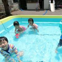 父親参観&プール遊び