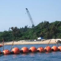 K9護岸の建設現場に作業員は姿を見せず。
