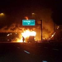 イタリアの北部で、バスが衝突事故!16人死亡。