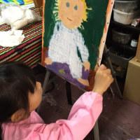 日曜日、天六スタジオ教室は、油絵とアクリル画の指導です。