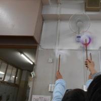 風車 回すためには 扇風機 - 放課後教室の工作です