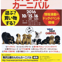 2016 AUTUMN-WINTER  miLmiL DOG EVENTのご案内