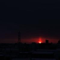 ベランダから太陽柱の撮り損ね(笑)