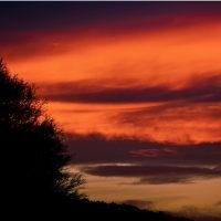神々が急がせる晩秋の落日