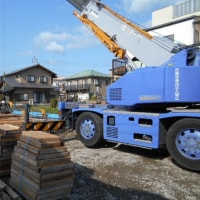 富士市にて重量鉄骨2階建て 店舗併用二世帯住宅を施工しています!!