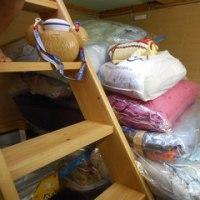 床下収納庫 整理 棚作り