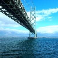 まりん・あわじで明石海峡大橋の下を 2017.04.18