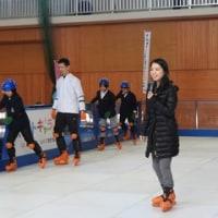 初体験!スケートキャラバン