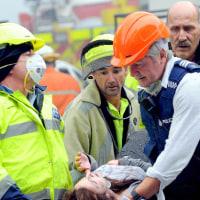 NZ地震で多数の邦人が不明に