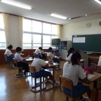 教委による学校訪問(6/19)