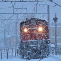 20年に一度の大雪にDD51寒冷地仕様が突き進む!