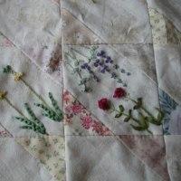 リボン刺繍*季節のお花