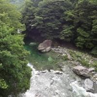 面河渓関門の様子(6月26日朝)