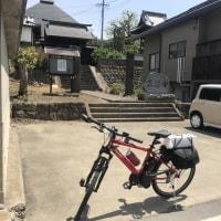 自転車へ飯山で