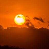 1月18日、【七曲り】は雲に沈んだ太陽