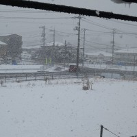 ① 大雪が降った