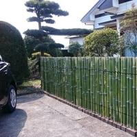 竹垣作り替えてみました。