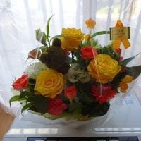 おじさんと花