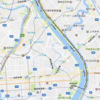 小菅→東大島 荒川徒歩下り ( ゚д゚ )y-~~