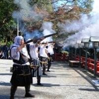 <根来寺> 秋晴れの下、「かくばん祭り」にぎやかに