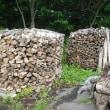 今年の薪円柱、まずは2つ完了