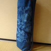 藍染めのヨガマットカバー