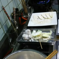 天ぷらをあげます、夜食です。