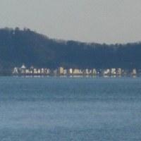 夕刻に琵琶湖畔へ