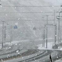 今日の天気は晴れ→雪→晴れ   女心❓ d( ̄  ̄)