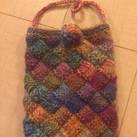 バスケット編みのポシェット