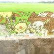 水戸市内の鹿島臨海鉄道からの風景(田んぼアート)