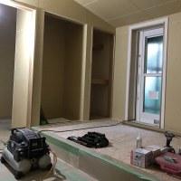 倉敷市呼松の住宅新築現場での内装造作