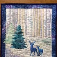青い鹿さんキルト