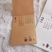 クラフト用紙のカレンダー