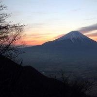 ダイヤモンド富士を撮影に再び毛無山へ  平成29年2月18日