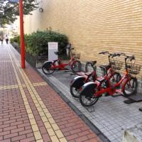 北門通りの変化① NTTビルの横に自転車のシェアが復活