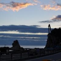 波立海岸の日の出