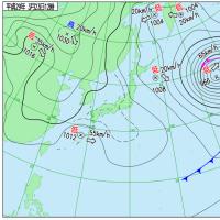 3月23日 アメダスと天気図。