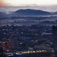 鹿沼市 富士山公園から雲海と日の出 28.10.27
