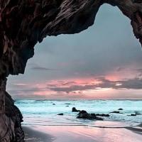 癒し画像:「海が開ける」