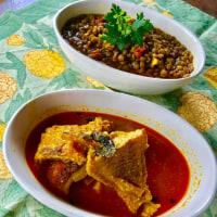 魚のカレー 豆のカレー