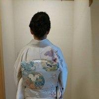 29.4.8日出張着付3件中、1件目の着付は堺市東区お嬢様の入学式のお着付けでした。