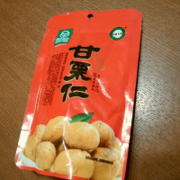 中国のお土産 緑色食品の甘栗