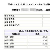 システムアーキテクト試験の学習(合格発表)