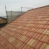 阿見町I様邸 屋根工事完了と。