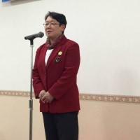 社民党の新春交流会に金元書記長とともに参加