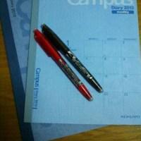 来年のスケジュール帳。そしてタスク管理。