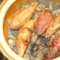 土鍋で作る焼き芋です